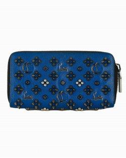 Carteira Louboutin Panettone Multimetal azul