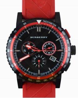 Relógio Burberry PRETO E VERMELHO