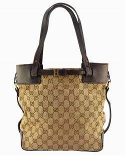 Bolsa Gucci GG Supreme Tote Marrom