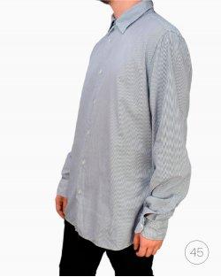 Camisa Prada Listrada Azul e Branco Masculino
