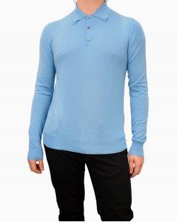 Blusa polo Prada lã azul