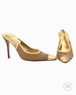 Slingback Dolce&Gabbana Dourado Vintage