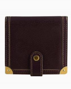 Carteira Louis Vuitton couro roxo