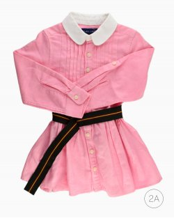 Vestido Ralph Lauren rosa com cinto