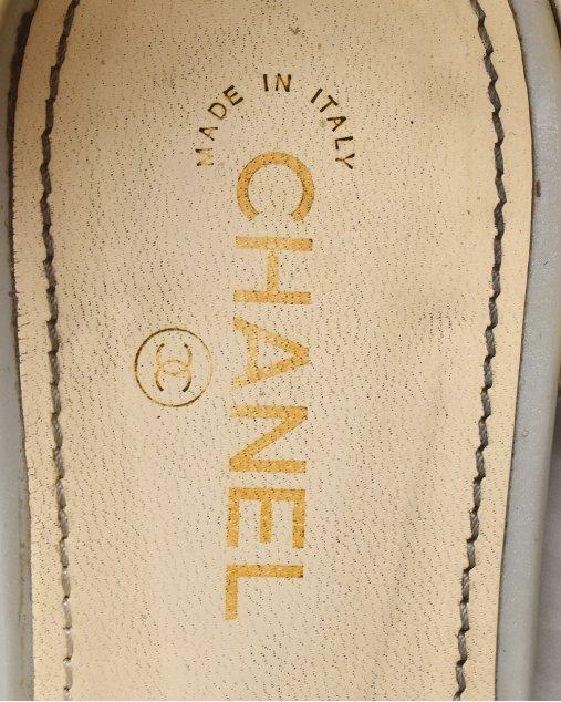 Rasteira Chanel Gladiadora Gelo