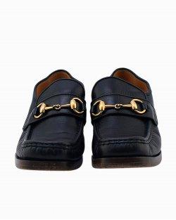 Sapato Gucci Malaga Kid Horse Bit preto