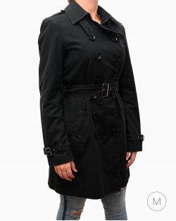 Trench Coat Burberry Preto Feminino