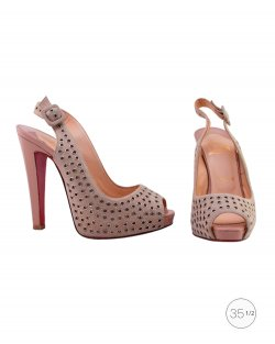 Sapato Louboutin Private Number bege