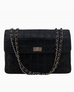 Bolsa Chanel 2.55 Pockets lambskin preta