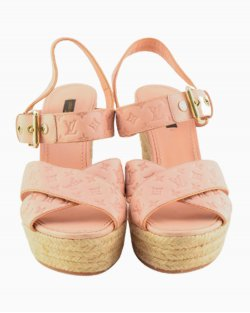 Sandália Louis Vuitton Empreinte rosa