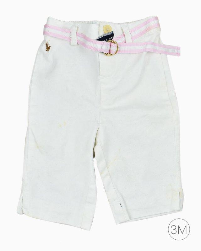 Calça Infantil Ralph Lauren Branca