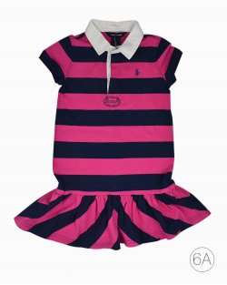 Vestido Infantil Listrado Ralph Lauren