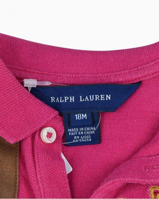 Vestido Polo Ralph Lauren Pink Infantil