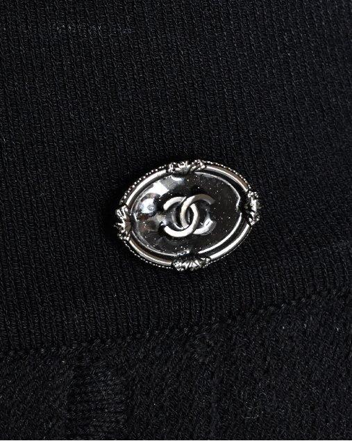 Saia Chanel Estampa Alto relevo Preta