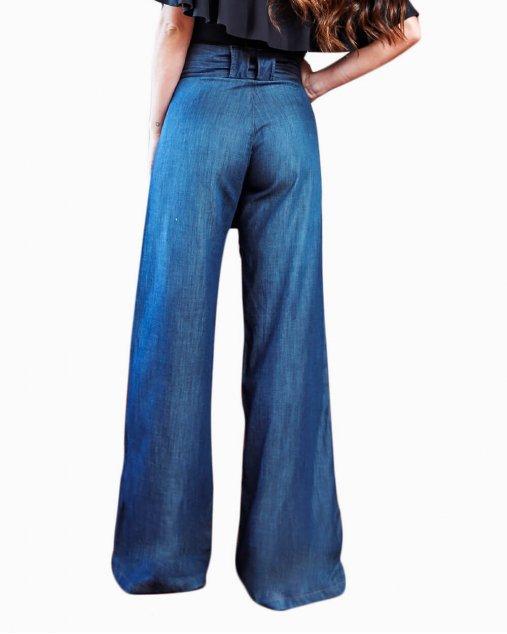 Calça Pantalona Diana - Escura Nuii Store