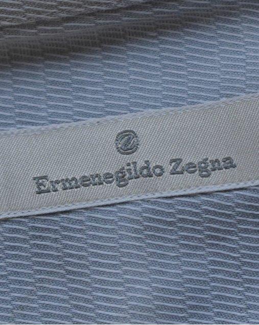 Camisa Social  Ermenegildo Zegna Manga Longa azul clara