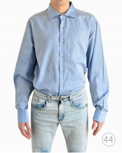 Camisa Social Manga Longa Ralph Laurent Azul