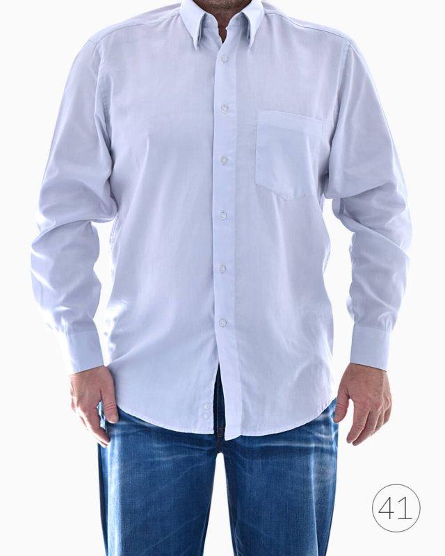 Camisa Social Hugo Boss Manga Longa azul clara