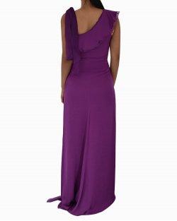 Vestido Carolina Herrera Longo Roxo