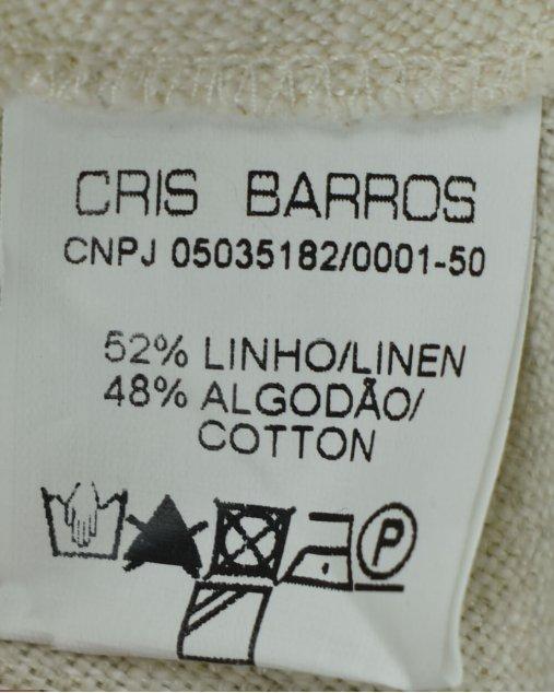Vestido Cris Barros Infantil Bege