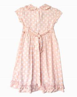 Vestido Silmara Polka Dots Infantil Rosa