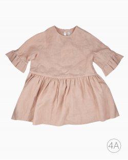 Vestido Bebe Organics Linho Rose Infantil