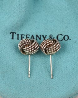 Brinco Tiffany & Co. Nó Prata