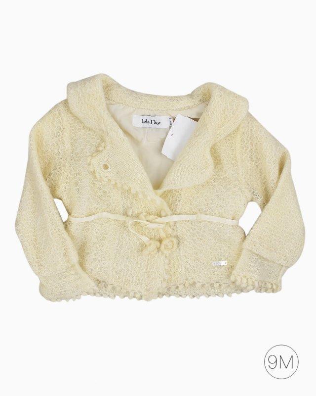 Casaco Dior Baby Off White Infantil