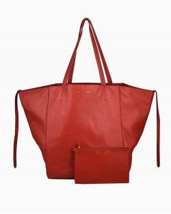 Bolsa Celine Horizontal Cabas Tote Vermelha