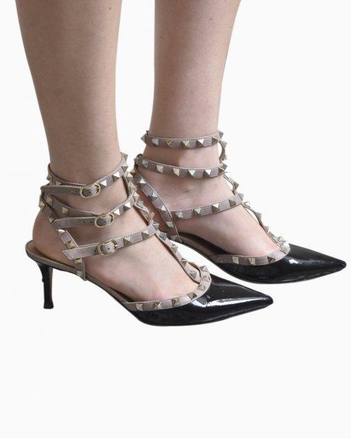 Sapato Valentino Rockstud Garavani Preto