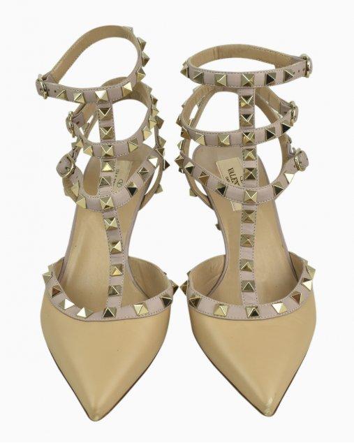 Sapato Valentino Garavani Rockstud Nude