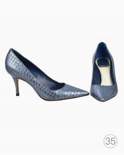 Sapato Christian Dior Azul Metalizado