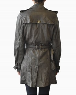 Trench Coat De Couro Burberry Brit