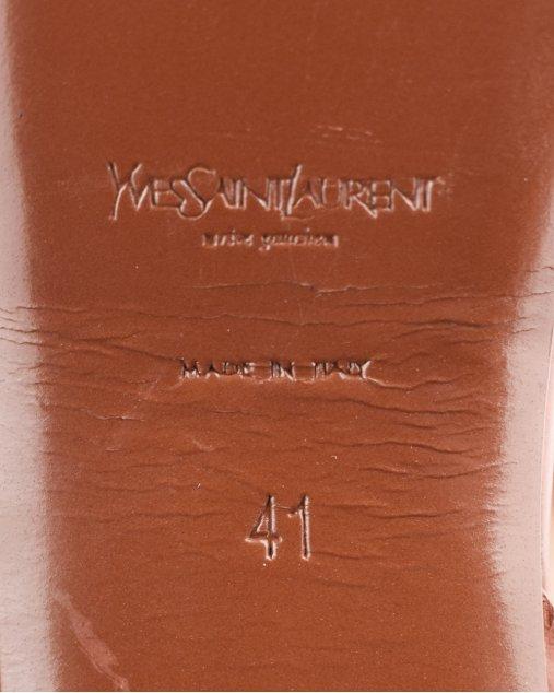 Sandália Yves Saint Laurent Classic Tribute  105  Caramelo