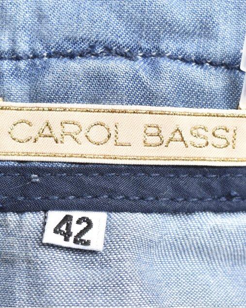 Saia Jeans Carol Bassi Midi