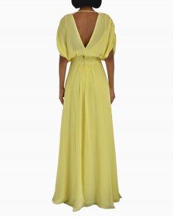 Vestido Longo Amarelo Candy Brown