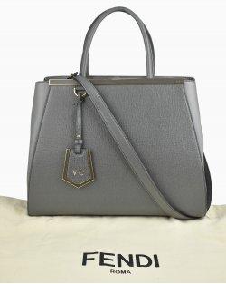 Bolsa Fendi 2Jours Cinza Large