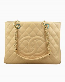 Bolsa Chanel Shopper Nude