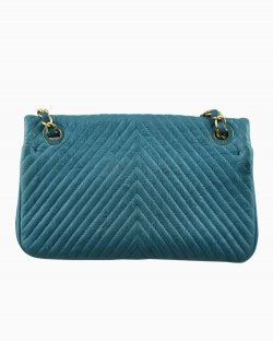 Bolsa Chanel Single Flap Small Azul