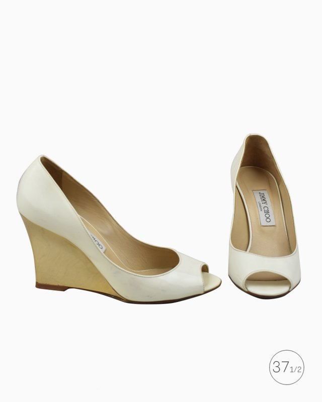 Peep Toe Jimmy Choo Off White