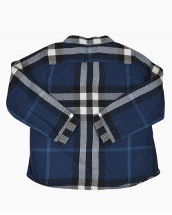 Camisa Burberry Xadrez Azul