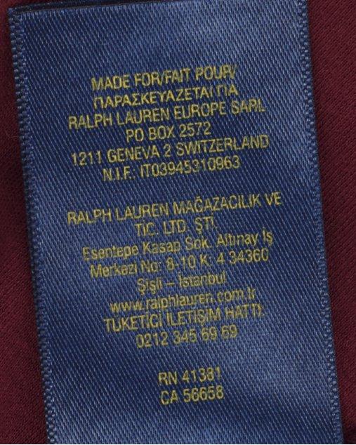 Polo Ralph Lauren Infantil Vinho