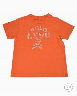 Camiseta Polo Ralph Lauren Infantil Laranja