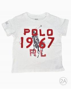 Camiseta Polo Ralph Lauren Infantil Branca