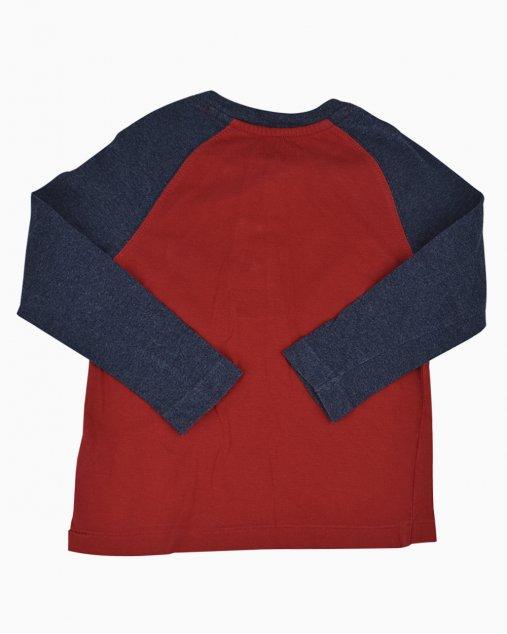 Blusa Polo Ralph Lauren Infantil Vermelho e Azul