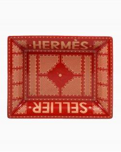 Porcelana Hermès Sellier Vermelho