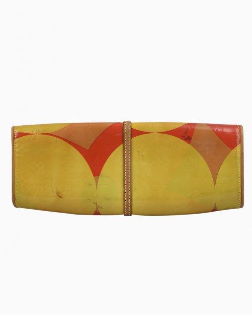 Clutch Louis Vuitton Pochette Fleur Amarela