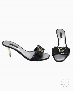 Tamanco Louis Vuitton Love Preto