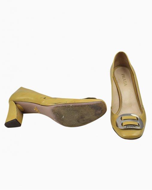Sapato Prada Verniz Amarelo