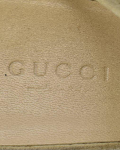 Sandália Gucci Tela Bege